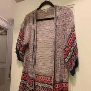 Flowy cotton kimono top
